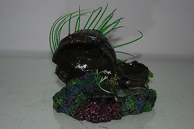 Aquarium Broken Sunken Pots Sword on Rock Base with Plants 15 x 11 x 12 cms 2