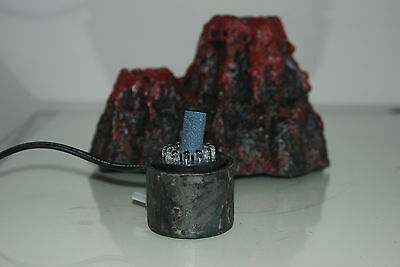 Aquarium Volcano with Red Led Lights and Airstone Rock 18 x 13 x 11cms 4