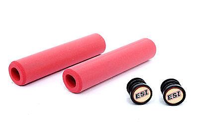 ESI Chunky BLACK 100/% SILICONE Mountain Bike Grips shock absorbin 130mm 60g 32mm
