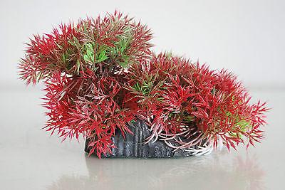 Aquarium Realistic Plastic Plant 18 x 6 x10 cms with Rock Base For All Aquariums 3
