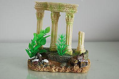 Medium Old Roman Greek Temple Ruin Columns Decoration & Plants 15 x 11 x 15 cms 4