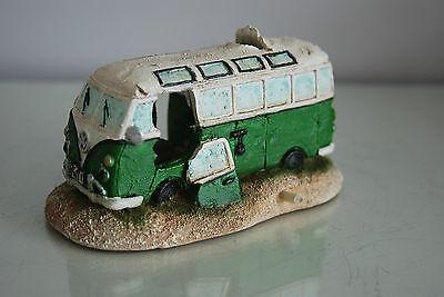 Aquarium VW Camper Van Bright Green Decoration 15.5 x 9.5 x 8 cms 7