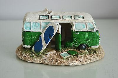 Aquarium VW Camper Van Bright Green Decoration 15.5 x 9.5 x 8 cms 4