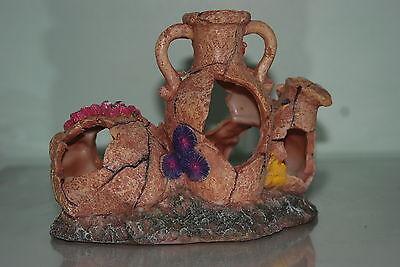 Aquarium Medium Rustic Collection of Pots 19.5 x 13 x 16 cms For All Aquariums 3