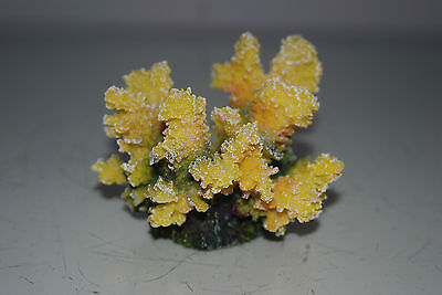 Detailed Aquarium Coral Reef Decoration Yellow Sponge Type 10 x 8 x 8 cms 2
