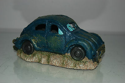 VW Beetle Small Old Rustic Style Car Decoration 18 x 10 x 9 For All Aquariums 6