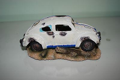 Aquarium VW Herbie car Decoration & Bubble Exhaust Size 15 x 10 x 7 cms 4