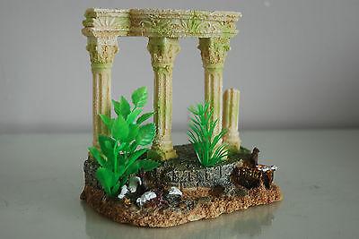 Medium Old Roman Greek Temple Ruin Columns Decoration & Plants 15 x 11 x 15 cms 3