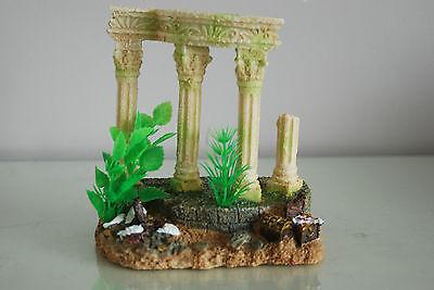 Medium Old Roman Greek Temple Ruin Columns Decoration & Plants 15 x 11 x 15 cms 2