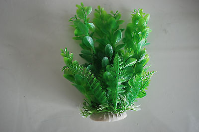 Aquarium 2 x Green Plastic Plants Approx 16cm High Suitable for All Aquariums 5