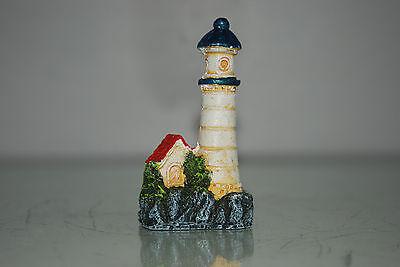 Aquarium 4 x Lighthouse Set Approx size 5 x 3 x 9 cms Boat Harbour Sea House 2