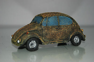 VW Beetle Old Rustic Style Car Decoration 14 x 6 x 6 Suitable For All Aquariums 3