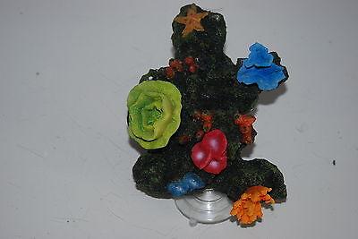 Aquarium Reef Decoration + Suckers For Attatching To Aquarium Glass 19 x 13x 12 4