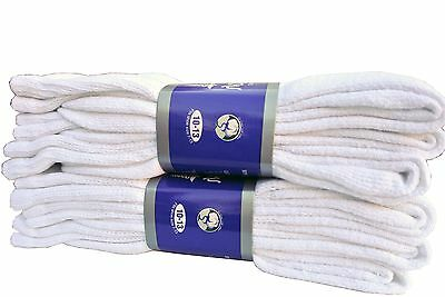 Diabetic WHITE CREW Socks circulatory Health  Men's Women's Cotton ALL SIZE
