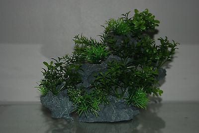 Aquarium Large Detailed Rock with Various Plants Decoration 29 x 10 x 25 cms 8