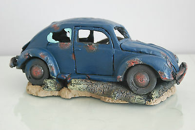VW Beetle Large Old Rustic Style Car Decoration 33 x 16 x 13 For All Aquariums 2