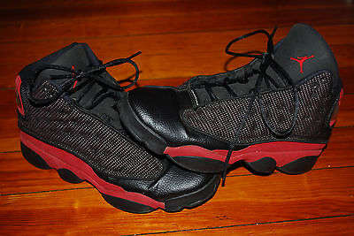 the latest 861c0 089ef ... Nike Air Jordan XIII 13 Retro Black Varsity Red (7Y) Bred 414574-