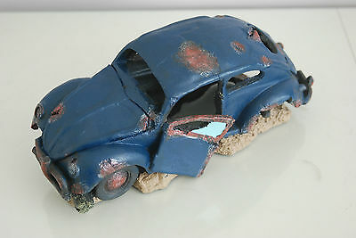 VW Beetle Large Old Rustic Style Car Decoration 33 x 16 x 13 For All Aquariums 5