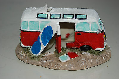 Aquarium Old VW Camper Van Red Decoration 15.5 x 9.5 x 8 cms 2