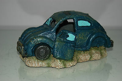 VW Beetle Small Old Rustic Style Car Decoration 18 x 10 x 9 For All Aquariums 2
