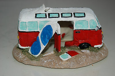 Aquarium Old VW Camper Van Red Decoration 15.5 x 9.5 x 8 cms 7