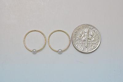 10K gold 13.5  mm pearls sleeper earrings 2