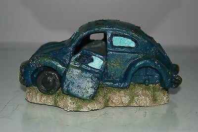 VW Beetle Small Old Rustic Style Car Decoration 18 x 10 x 9 For All Aquariums 7