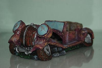 Aquarium Old Vintage Car Decoration With Bubble Exhaust 22 x 10 x 8 cms 3