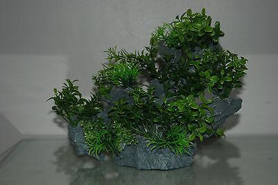 Aquarium Large Detailed Rock with Various Plants Decoration 29 x 10 x 25 cms 5