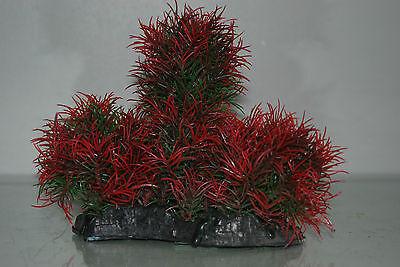 Aquarium Large Red & Green Bush Plant 17 x 7 x 16 cms For All Aquariums 4