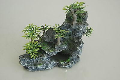 Aquarium Detailed Rock & Plant Decoration 15 x 8 x 13 cms For All Aquariums 7