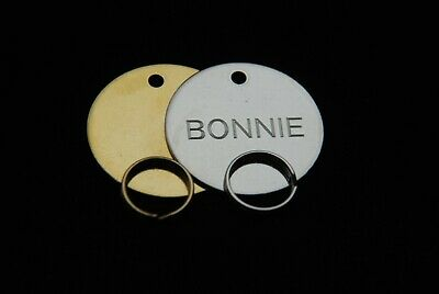 Engraved Dog Tag Personalised Round Bone Id Name Disc Large Small Pet Cat Tags 8