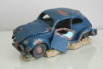 VW Beetle Large Old Rustic Style Car Decoration 33 x 16 x 13 For All Aquariums 3