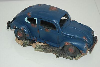 VW Beetle Large Old Rustic Style Car Decoration 33 x 16 x 13 For All Aquariums 6