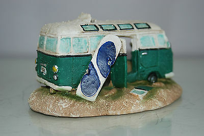 Aquarium VW Camper Van Pale Green Decoration 15.5 x 9.5 x 8 cms 3