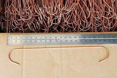 60 x 2mm Thick Copper Coated 100 POWDER COATING C-HOOKS FOR THE HOME USER