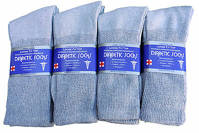 3 Pairs Diabetic CREW circulatory Socks Health Men's & Women's  Cotton ALL SIZE 6