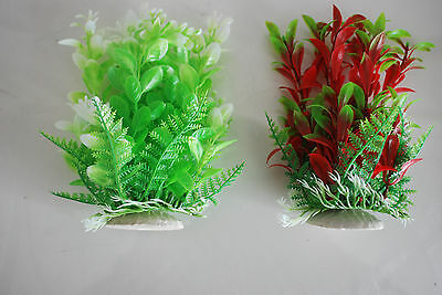 Aquarium Tropical Plastic Plants x 2 Approx 16cm High Suitable for All Aquariums 2