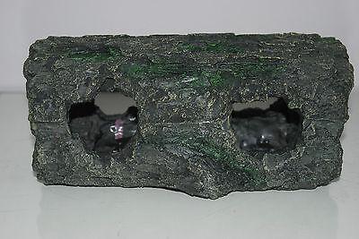 Detailed Large Aquarium Cichlid Hollow Root Log Decoration 28 x 14 x 13 cms 11