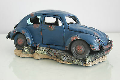 VW Beetle Large Old Rustic Style Car Decoration 33 x 16 x 13 For All Aquariums 9
