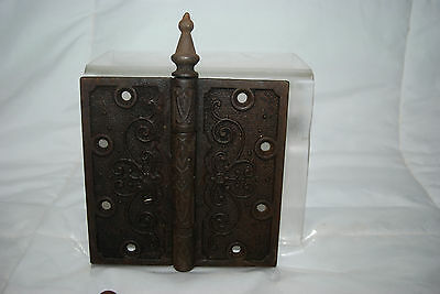 "Antique Cast Iron Assorted Size Hinges & 3.5"" Brass Hinges 9"