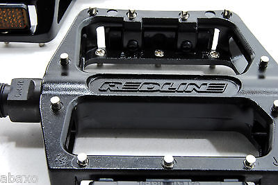 """Black 9//16/"""" Sealed Bearing Redline Lo-Profile Alloy Platform Pedals"""