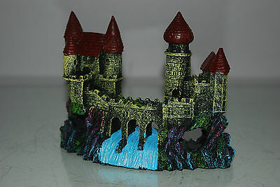 Detailed Aquarium Small Castle and Weir Decoration 16 x 5 x 12 cms