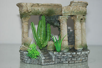 Aquarium Medium Roman Arch With Steps & Plants 18 x 10.5 x 14 cms 2