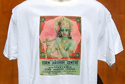 GRAPHIC retro art vintage Mens Cotton T Shirt Rama Hanuman  size  LARGE