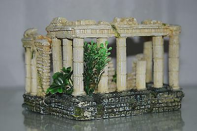 Stunning Aquarium Roman Square & Columns Decoration 17.5 x 14 x 13 cms 3