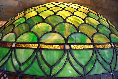Turn of the Century Stained Glass Canopy for Back Bar R. Williamson Mfg. Chicago 9