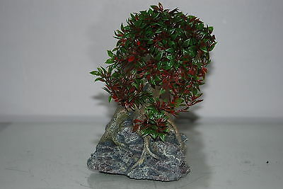 Aquarium Tree with a Rock Base 17 x 10 x 16 cms Suitable For All Aquariums 2