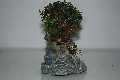 Aquarium Tree with a Rock Base 17 x 10 x 16 cms Suitable For All Aquariums 3
