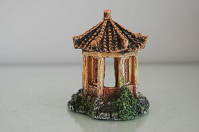 Aquarium Detailed Asian Temple 8  x 7 x 9 cms Rusty Suitable For All Aquariums 4